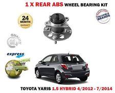 Per TOYOTA YARIS 1.5 Hybrid Hatch 2012-7/2014 NUOVO 1X KIT CUSCINETTO RUOTA POSTERIORE X1