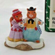Fitz & Floyd Holiday Hamlet - Squirrel Family - 1993