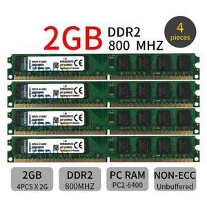 Kingston 8GB 8G 4 x 2GB Desktop Memoria PC2-6400U DIMM DDR2 800mhz 1.8V ZT IT