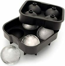 Silicone Ice Ball Mould Food Grade 4x4.5cm Sphere Ice Rounds Ball Maker UK