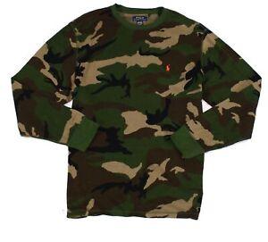 Polo Ralph Lauren Mens Sleepwear Green Size XL Camo Thermal Pajama Shirt $45 123