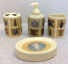 Bath Accessories Set Toothbrush Holder, Soap Dish, Lotion Pump, Tumbler Sea Sell