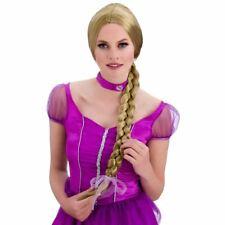 Ladies Long Blonde Plaited Wig Rapunzel Fairy Princess Fancy Dress Book Week