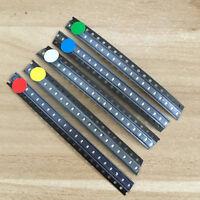 100pcs 5 Values 0603 SMD LED light Red White Green Blue Yellow Assortment Kit