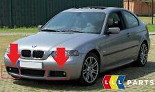 BMW NEW GENUINE 3 E46 COMPACT 00-06 FRONT M SPORT BUMPER FOG LIGHT GRILLES