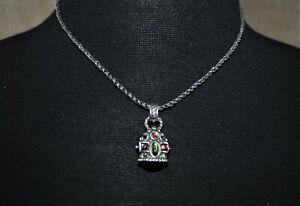 Brighton Pastel Color Stones Pendant Silver Plated Necklace