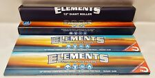 "Elements 12"" Inch Giant Cigarette Roller Rolling Machine & 2 Packs of 12 Papers"