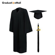 GraduationMall Matte Graduation Gown and Cap 2020 for High School & Bachelor