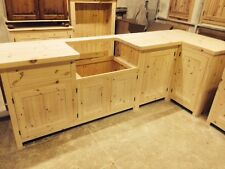 Bespoke Solid Wood Country Kitchen Cabinets UNFINISHED- 40mm solid pine worktop