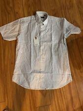 vancl men's  oxford shirt short sleeve   size 40