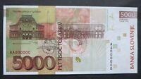 Slovenia SPECIMEN ERROR 5000 tolar 1993 GEM UNC ser. AA000000 RARE P-19s