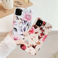 For iPhone 11 Pro Max Flower Patterned Slim Rubber Soft TPU Silicone Case Cover