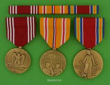 3 WWII Army Medals & Ribbons - Good Conduct, Asia Pacific Campaign, WW2 Victory