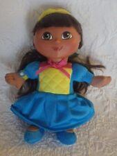 "Fisher Price Dora The Explorer Plush Stuffed Animal 8"" Tall Plastic Head"
