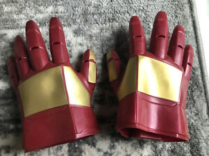 Marvel Hasbro Iron Man Kids Cosplay Light & Sound Left-Right Pair Rubber Gloves