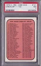 1975 OPC WHA #131 HOCKEY CHECKLIST 1 - 132 PSA 7 NM CENTERED! tough