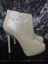 Crystal embellished ankle boots size 6 uk 39