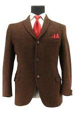 Harris Tweed Men's Bespoke Hacking 3-2 Roll Sport Coat Blazer Jacket Size 39 SH