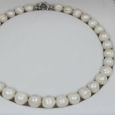 Brand New Freshwater Pearl Necklace with 925 Sterling Silver Clasp Delny