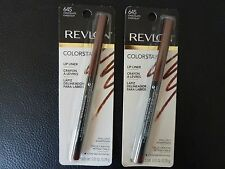 Revlon ColorStay Lip Liner / Lipliner - CHOCOLATE  #645 - TWO - Both New /Sealed