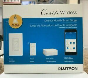 Lutron  Wireless 100-Watt Single-Pole White LED Dimmer Smart KIT(2 PACK)