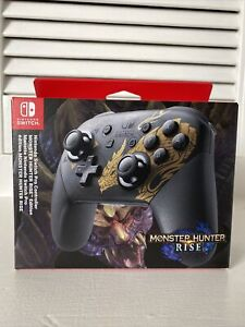 Nintendo Switch Pro Controller Monster Hunter Rise Edition Brand New
