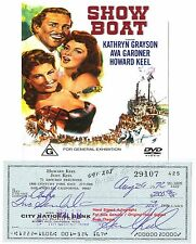 HOWARD KEEL   AMERICAN TV FILM STAR ACTOR SIGNED BANK CHEQUE / CHECK 1972  RARE