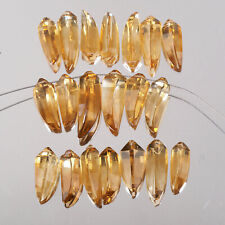 20 Pcs Natural Golden Citrine Briolettes 16mm-22mm Fancy Cut Drilled Gemstones