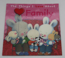 NEW LARGE KIDS BABY TODDLER PICTURE STORY BOOK THINGS I LOVE ABOUT FAMILY GIFT