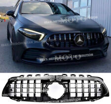 BLACK AMG GT panamericana grille,Mercedes W177 A class,NIGHT EDITION,A35,A45S