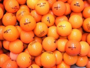 50 Orange Golfbälle im Markenmix ! AAAA / AAA ! Topqualität !