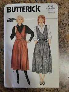 BUTTERICK PULLOVER JUMPER DRESS  PATTERN 6747 Size 6 8 10 cut