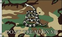 3'x5' Don't Tread on Me Camouflage Flag Gadsden USA Patriotic Revolution 3X5