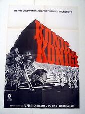 KÖNIG DER KÖNIGE / KING OF KINGS  - A1-Kinoposter WA - ger 1-Sheet  R1961/77