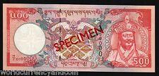 BHUTAN 500 NGULTRUM P26 2000 *Specimen MILLENNIUM PALACE UNC RARE BANK NOTE