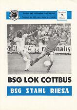 DDR-Liga 82/83 BSG Stahl Riesa - BSG Lok Cottbus, 09.10.1982