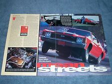 "1972 Chevelle Malibu Drag Car Vintage Article ""Mean Streets"""
