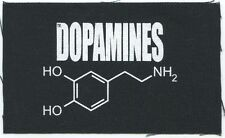 THE DOPAMINES science logo CLOTH PATCH -sew on , punk **FREE SHIPPING**