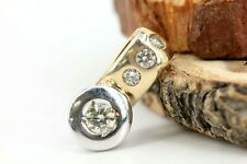 Gold Anhänger Diamant 14K Gelbgold 4 Brillanten ca. 0,25ct VS1 J Länge 15,0mm