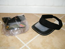 SOLARLIGHT CAP, SOLAR LIGHT POWER, (2) ULTRA BRIGHT LED'S (UNDER BRIM), VISOR