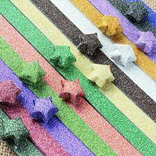 240 Strip Glitter Folding Paper Lucky Wish Star Origami Paper Scrapbook