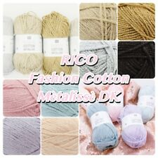 Rico Fashion Cotton Métallisé DK Pastel Glitter Knitting Crochet Yarn 50g