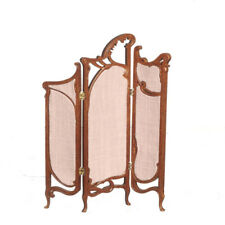 Dolls House Quality furniture 1:12 scale Art Nouveau Screen/Walnut  JJ08037WN