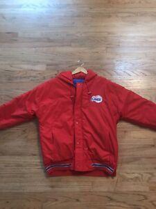 Vintage 80s / 90s Los Angeles Clippers Starter Jacket Red Mens M Hood Kawhi PG13