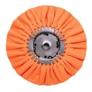 """renegade buffing wheel polishing orange 9"""" car truck semi aluminium cut new"""