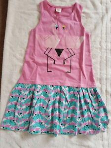 BNWT Tuc Tuc Girl's Flamino Print Dress Age 14 RRP £27