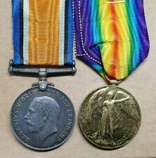 WW1 BRITISH MEDAL PAIR DCLI