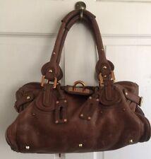 Authentic Vintage Chloe Paddington Bag C.  2005 Saddle Leather Padlock Missing