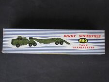 VINTAGE DINKY TOY # 660 TANK TRANSPORTER MINT ORIGINAL BOX