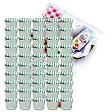 50 Sturzgläser 230 ml Marmeladengläser Einmachglas Einweckglas grün Rezeptheft